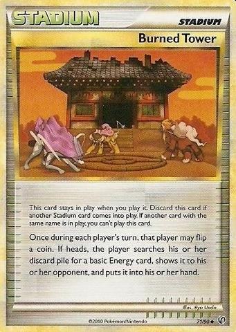 (Pokemon - Burned Tower (71/90) - HS Undaunted )