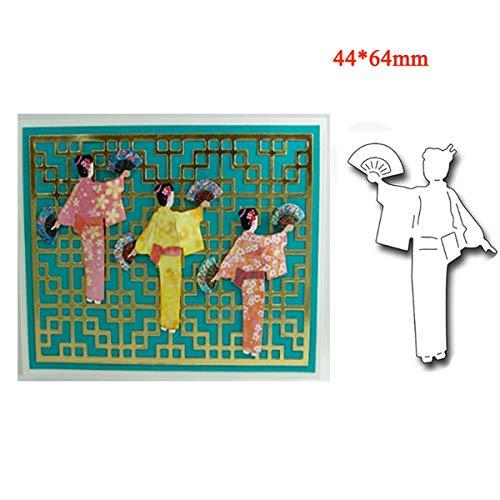 Ochoos Kimono Girl Metal Cutting Die Scrapbooking Embossing