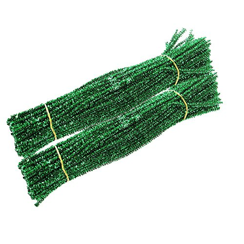 Caryko Tinsel Creative Arts Chenille Stems 6 mm x 12 Inch, Pack of 200 (Green)
