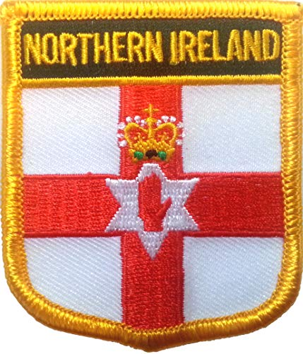 Northern Ireland (Shield) Embroidered Patch 6cm X 7cm (2 1/2