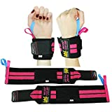 Deluxe Women's Wrist Wraps Pink (1 Pair/2 Wraps) for WEIGHT LIFTING TRAINING WRIST SUPPORT COTTON WRAPS GYM BANDAGE STRAPS Pink Stripes Color. ★ Features Elastic ✔ 2 Size Thumb loops ✔ Premium Quality 1 Year Warranty!