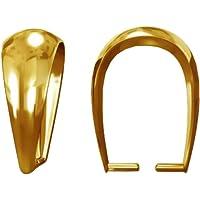 My-Bead 1 Pieza Colgante Enganche Plata de Ley 925 Chapado en Oro 24ct para Cadenas joyería de Calidad DIY