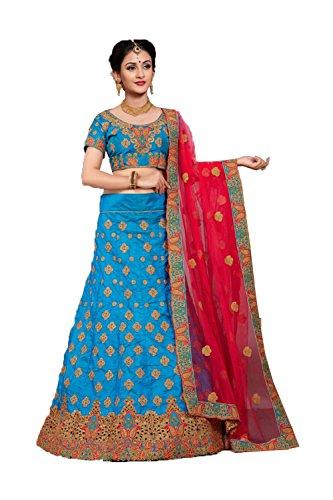 Da Facioun Concepteur Indien Partywear Ethniques Traditionnels Choli Lehenga Bleu
