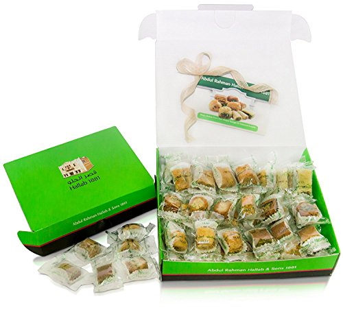 Baklava Greek Pastry - LUXURY BAKLAVA PASTRY SAMPLER SET (20 Oz) Hallab 1881, Taste the Unique, ORIGINAL Most Prestigious Assorted Baklava Sweets (Best Gift idea) (Gift Box 20 Oz, Baklava Variety Pack)
