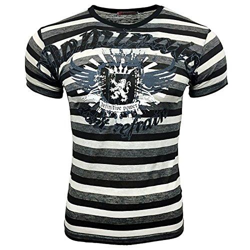 T-Shirt 498 Lila Rusty Neal, Größe:S, Farbe:Schwarz