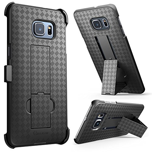 Galaxy S6 Edge Plus Case, i-Blason Transformer Slim Hard Shell Case Holster Combo with Kickstand and Locking Belt Swivel Clip for Samsung Galaxy S6 Edge Plus +