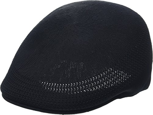 Kangol Mens Flat Cap - Kangol Men's Tropic 507 Ventair Ivy Cap, Black, L