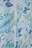 ASide BSide Fashion Style Flowers Printed Sheer Curtains Draperies Rod Pocket Breathable Voile Elegant Home Treatment For Living Room Dining Room and Kids Room (1 Panel, W 52 x L 63 inch, Teal)