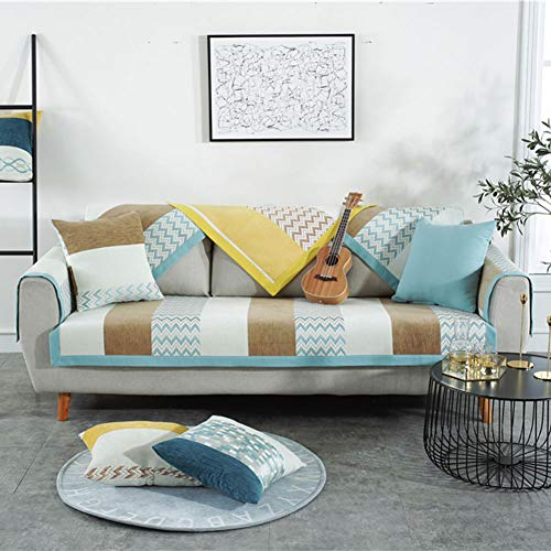 Deep Dream Pillow Cover,Chenille Cotton Embroidered Decorative Throw Pillowslip Invisible Zipper Pillowcase Cushion Cover for Sofa Bedroom Car (2pcs/18''x18''/Square/Pillow Cover, Blue)