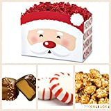 Sugar Free Diabetic Candy Holiday Sweet Santa Gift basket with chocolate and candy - Great for Christmas & SANTA CLAUS