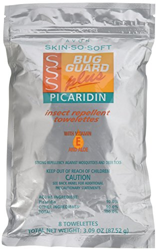 Avon Skin So Soft Bug Guard + Picaridin Towelettes 8's