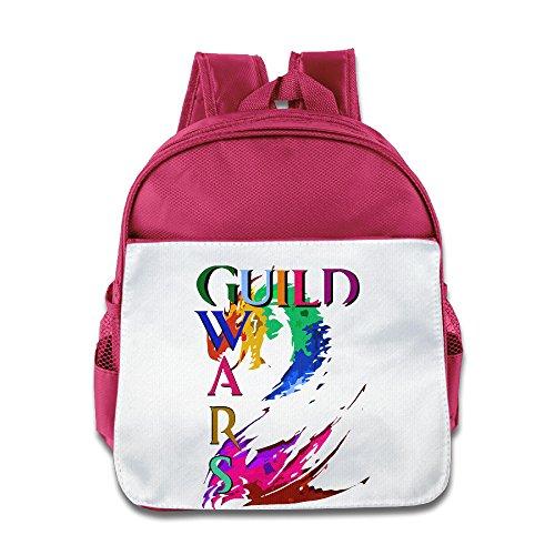 (XJBD Custom Cute Guild Wars 2 Thief Teenager School Bagpack For 1-6 Years Old Pink)