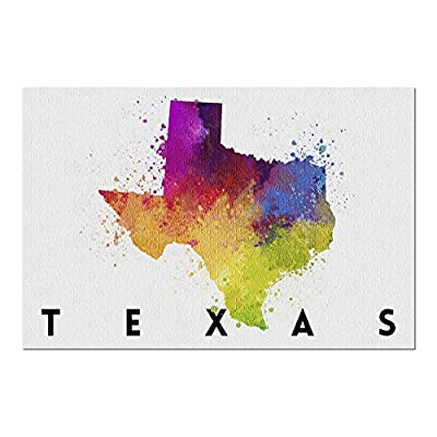 Texas - State Abstract Watercolor (Premium 1000 Piece Jigsaw Puzzle for Adults, 20x30, Made in USA!): Toys & Games