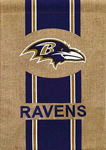 Team Sports America NFL Baltimore Ravens Burlap Garden Flag, 12.5