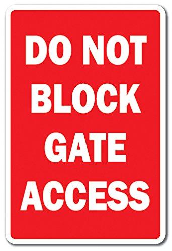 No bloque puerta de acceso de la novedad señal | interior ...