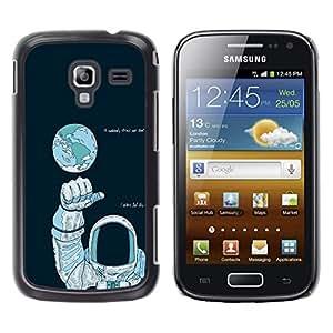 LECELL--Funda protectora / Cubierta / Piel For Samsung Galaxy Ace 2 -- Astronauta Espacio --