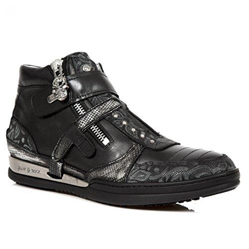 New Rock Laarzen M.hy032-c11 Stedelijke Hardrock Punk Unisex Veiligheid Sportschoenen Zwart