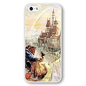 Beauty and The Beast - Disney Princess Belle, Personalized Hard Plastic Case for iPhone 5/5s - White