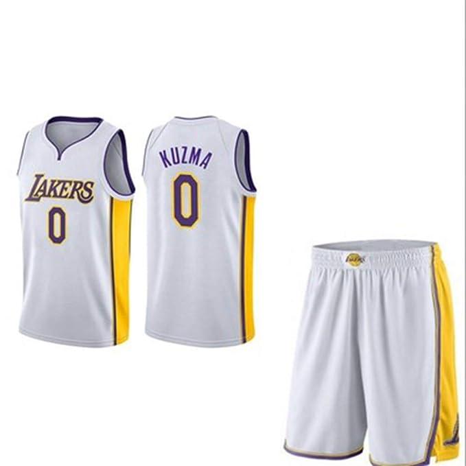 MHDE Lakers 0 Uniformes De Baloncesto Kuzma Uniformes ...