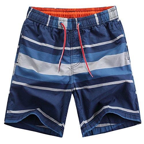 Casual Secado Teñidas Rápido Shorts 056 Rayas De Hilado Algodón Haoyuxiang OH6x86