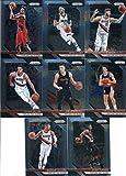 2018-19 Panini Prizm Basketball Portland Trail Blazers Team Set (Veterans) 8 Cards: Damian Lillard(#81), CJ McCollum(#91), Evan Turner(#101), Al-Farouq Aminu(#111), Jusuf Nurkic(#121), Seth Curry(#131), Zach Collins(#141), Drazen Petrovic(#275)