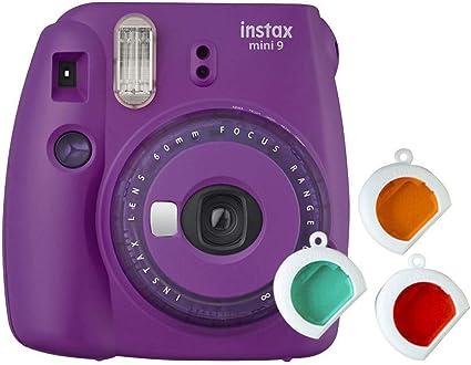 Fujifilm Instax Mini 9 - Cámara instantanea, solo cámara, Morado: Amazon.es: Electrónica