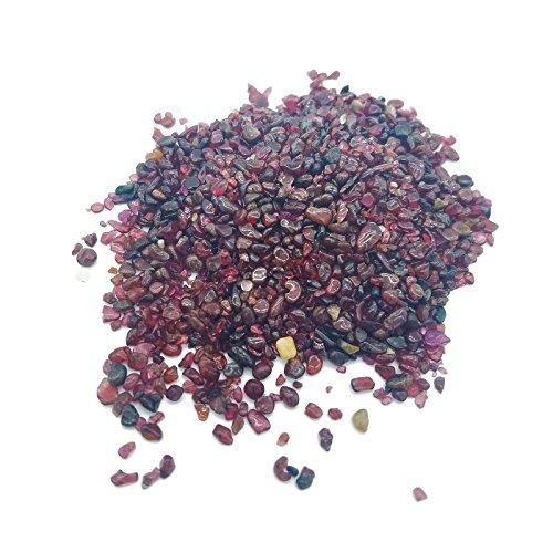 100g Natural Mini Red Garnet Irregular Shape Gravel Mineral Crystal Energy Stones Healing Gemstone (Healing Pet Stone)