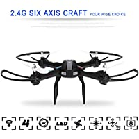 Tinfancy 2.4GHz 4 Channels 6 Axis Gyro Eversion CF mode One Key Automatic Return with Light RC Quadcopter