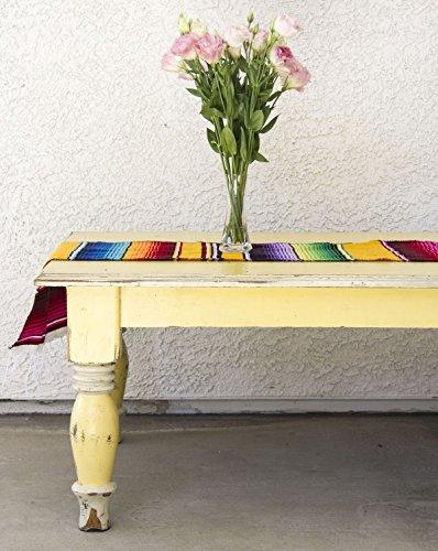 Del Mex (TM) Mexican Serape Blanket Table Runner (Yellow)