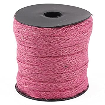 String Ribbon arpillera arte de decoración de la boda eDealMax cuerda Rollo DE 22 yardas de