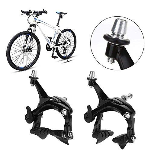 Vbestlife Bicycle Front Rear Caliper Brake Set,1 Pair Road Bike V Shape Mechanical Dual-Pivot Brake Set Repair Parts