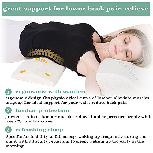 Soft Memory Foam Sleeping Pillow For Lower Back Hip Pain