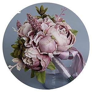 Romance-and-Beauty Elegant Pearl Wedding Flowers Mini Bridal Bouquets Crystal Sparkle Bouquet Bride Bridesmaid Wedding Bouquet 19