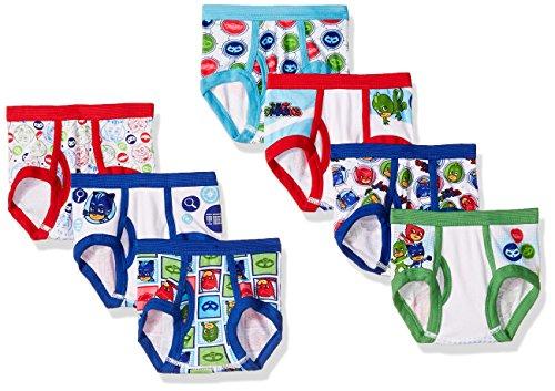 PJ Masks Toddler Boys' 7-Pack Brief Underwear, PJ Mask Tboy-Multi, 4T by PJMASKS (Image #1)