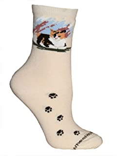 product image for Wheel House Designs Women's Calico Cat Socks