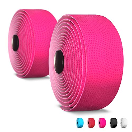 - Alien Pros Bike Handlebar Tape PU (Set of 2) Pink - Enhance Your Bike Grip with These Bicycle Handle bar Tape - Wrap Your Bike for an Awesome Comfortable Ride (Set of 2, Pink)