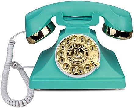 Edge To fijos y de teléfonos móviles Antiguo Teléfono de marcación rotativa Oficina de Moda Creativa Tarjeta casera Inalámbrico Vintage Retro Teléfono Línea Fija Verde Teléfono de casa: Amazon.es: Electrónica