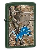 Zippo Camouflaged Detroit Lions Green Matte Lighter