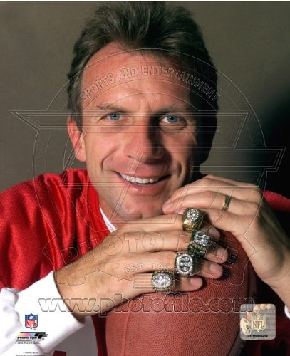 Ring Montana 49ers San Francisco (San Francisco 49ers Joe Montana 8x10 Color Photo w/Super Bowl Rings)