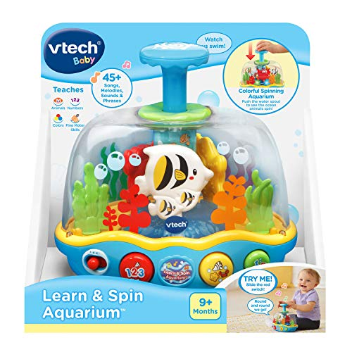 51kFD 4zKXL - VTech Learn and Spin Aquarium
