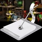 VPlus 1PCS Stainless Steel Paper Towel Holder Ball Napkin Ring Bridge Table Paper Clip Tissue Box Restaurant Bar Hotel Supplies