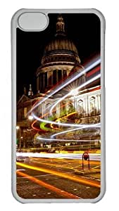 Apple iPhone 5C Case and Cover - Christmas Lights In London Custom PC Case Cover For iPhone 5C - Tranparent