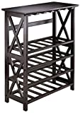 Winsome Wood Rio Wine Rack, 24-Bottle, Glass Hanger For Sale
