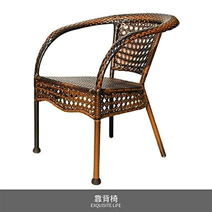 HOOM-Ocio al aire libre silla sillas rattan silla jardín patio ...