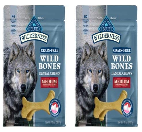 Blue Buffalo BLUE Wilderness Wild Bones Grain Free Dental Chews Medium 2 Pack