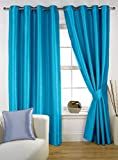 CHome HOMEC Elegant Blackout Multi Eyelet Window Curtain Set Of 2-48 X 60 Inch In Blue