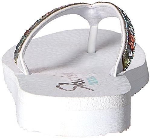 Peace Cali Women's Flop Meditation White Skechers Flip Multi Slim ZtUSnw