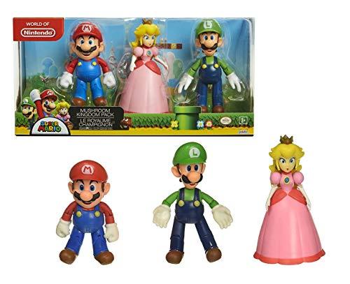 Nintendo Super Mario Mushroom Kingdom Diorama Figure 3-Pack (World Of Nintendo Mario Toys)