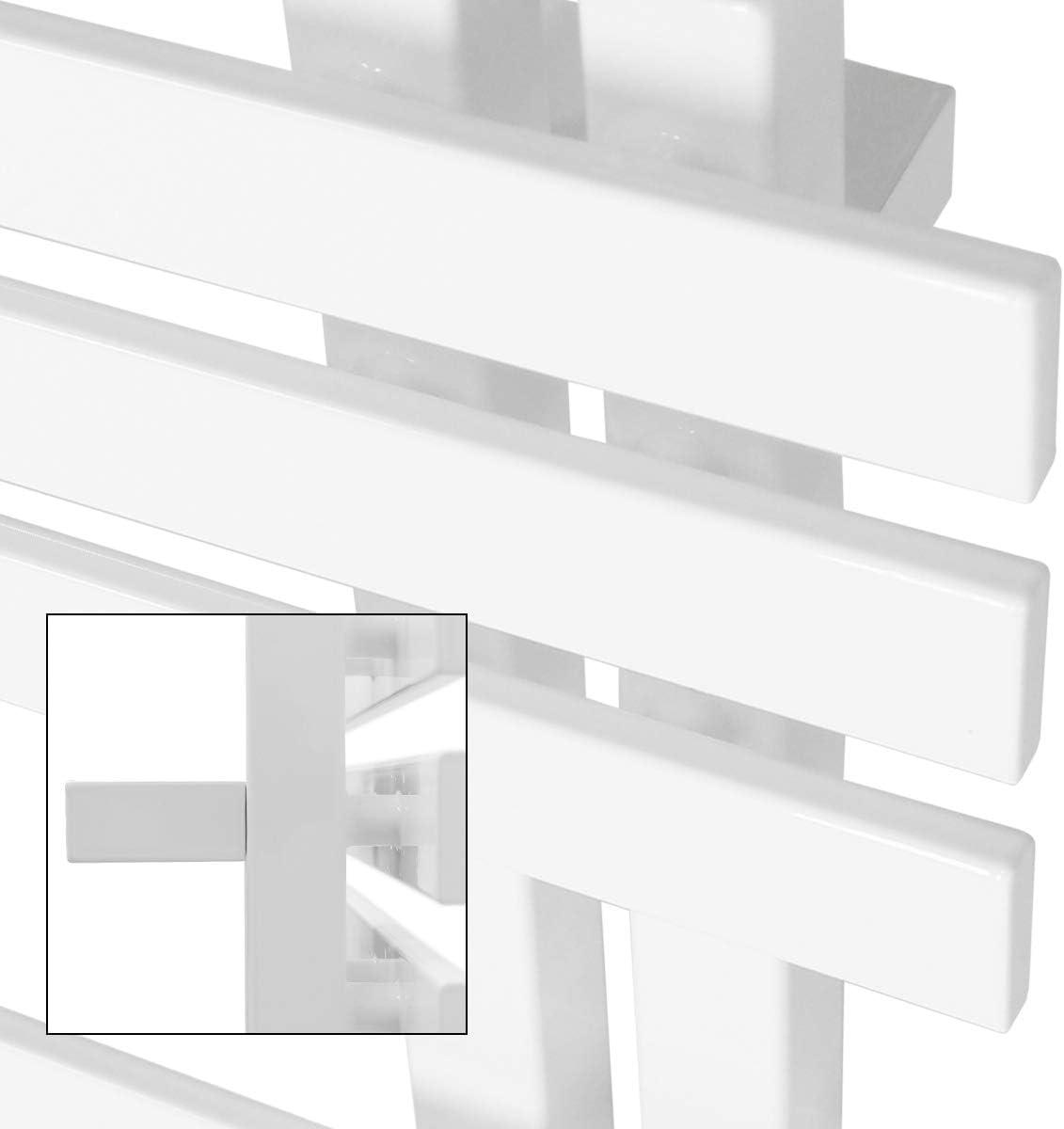 ECD Germany Iron EM Design Radiateur s/èche-serviettes /électrique 1200W 600 x 1400 mm S/èche-serviettes chauffant blanc