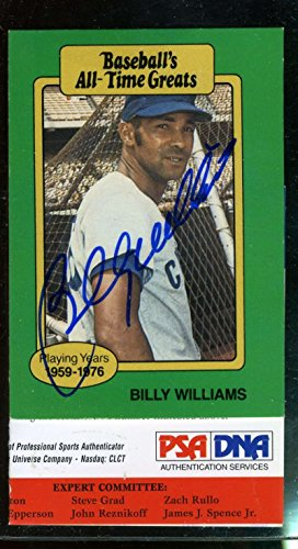 BILLY WILLIAMS PSA DNA COA Autographed 1982 BASEBALL IMMORTAL Authentic Hand Signed ()